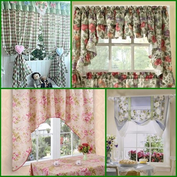 шторы уголки для кухни фото