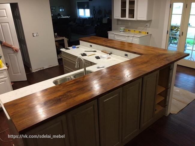 столешница для кухни из дерева