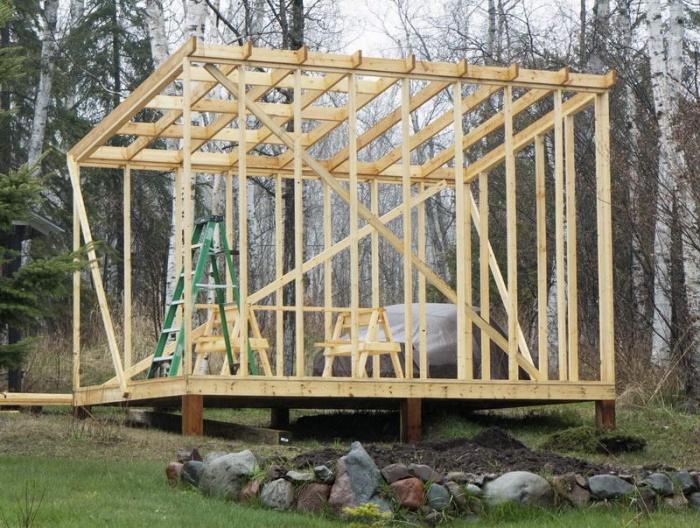 Сарай своими руками: инструкция как построить каркасный деревянный сарай быстро и качественно