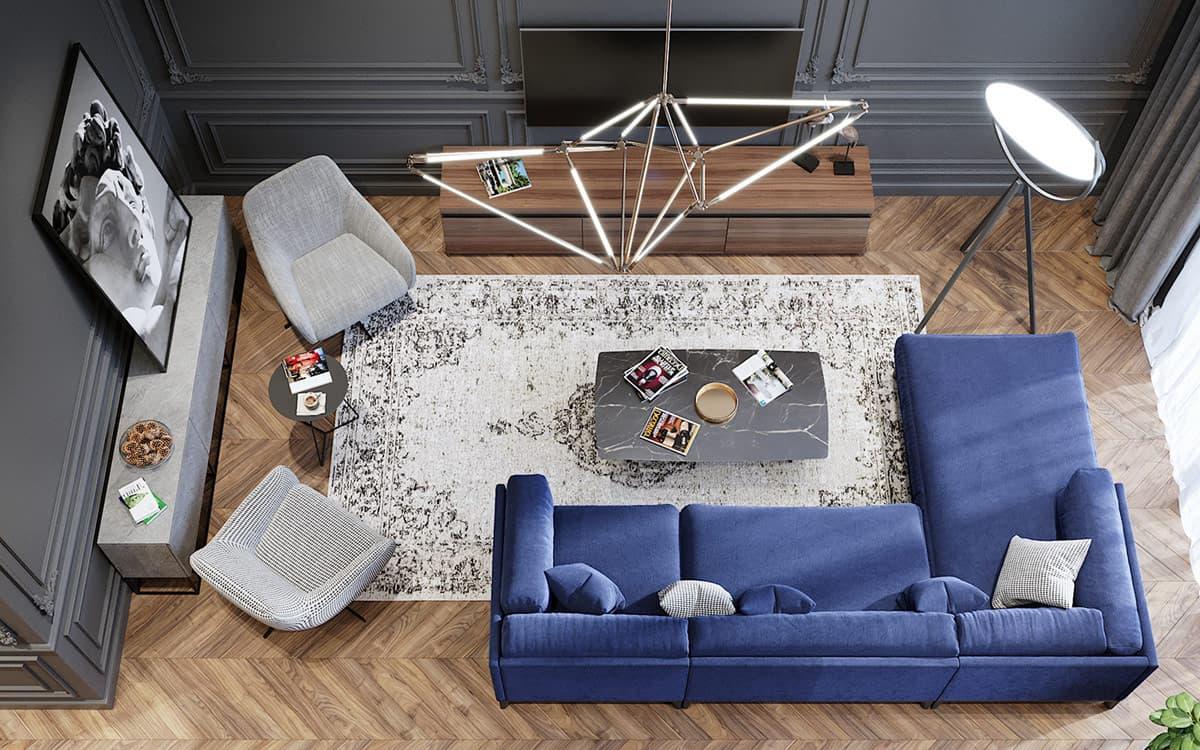 современный дизайн гостиной