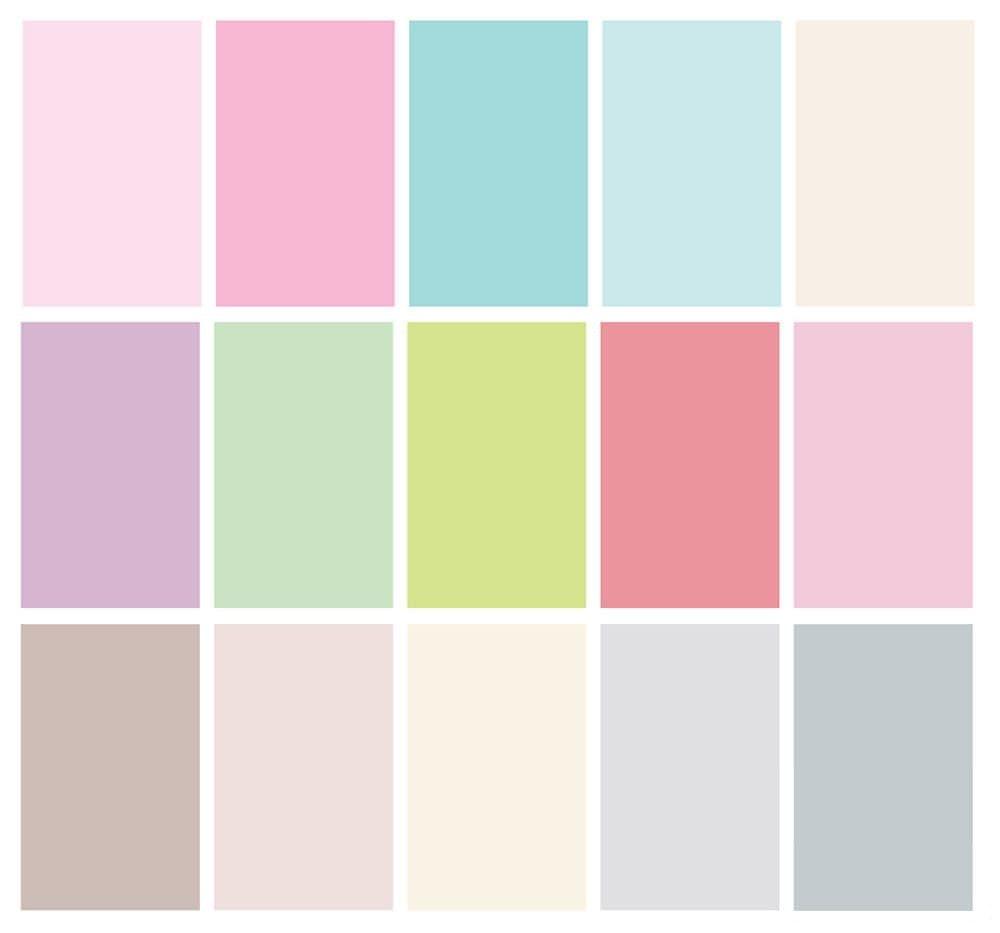 пастельные цвета