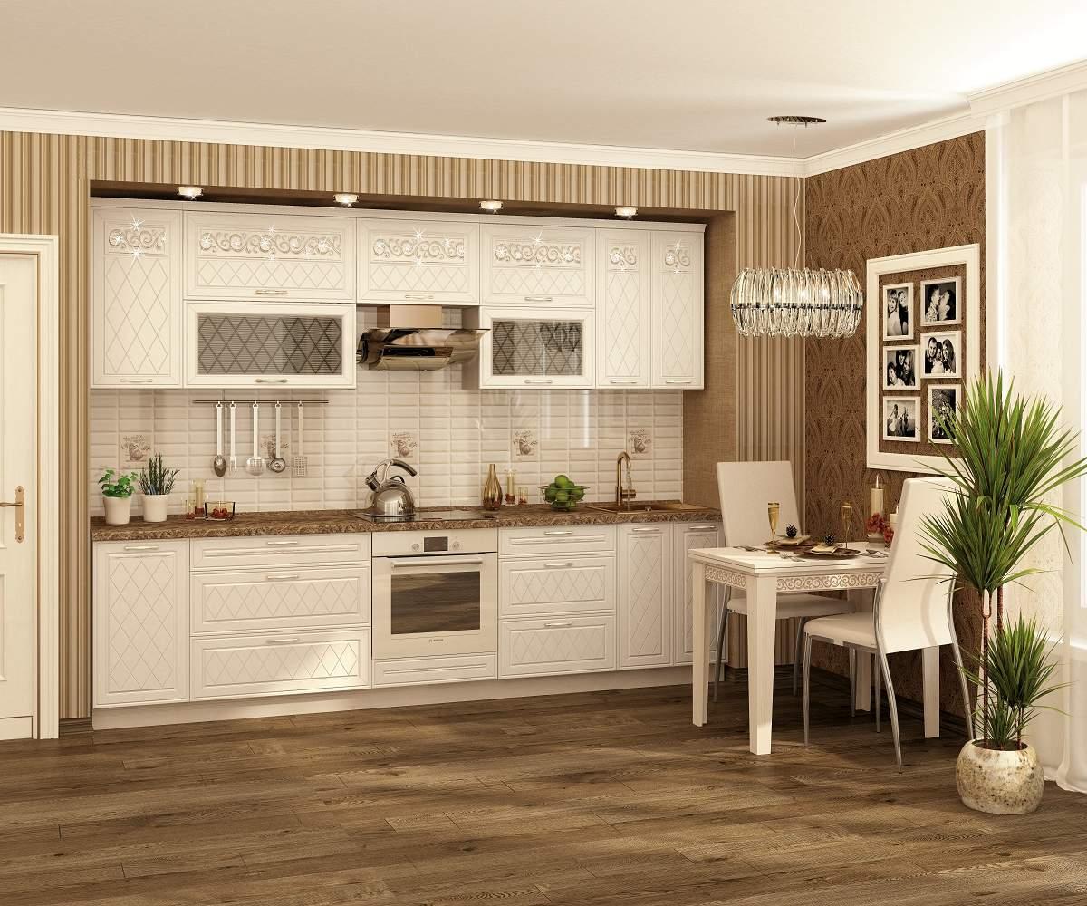 белые кухонные гарнитуры в современном стиле
