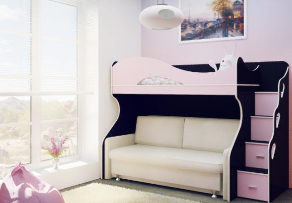 Двухъярусная кровать со столом и шкафом, китерии выбора