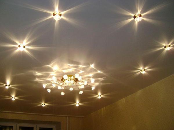 лампочки под натяжной потолок