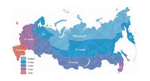 Зоны морозостойкости, карта, растения-индикаторы