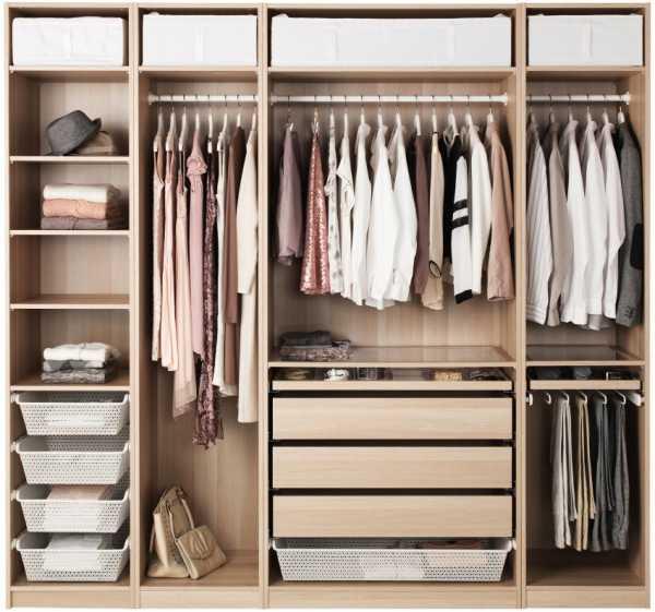 системы для гардеробных комнат