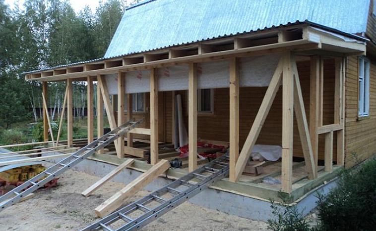Пристройка террасы к дому — пошаговая инструкция и нюансы строительства