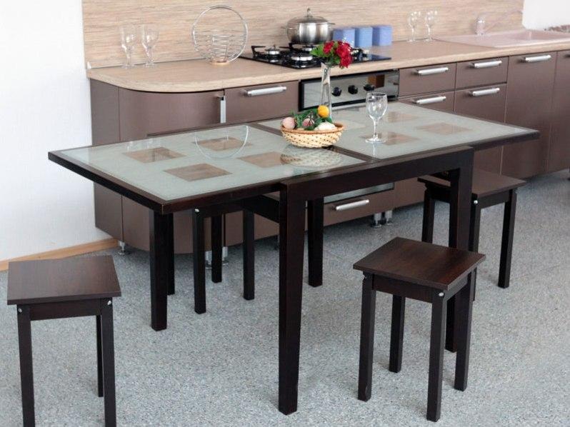 Круглый стол на кухню (120 фото новинок дизайна) - идеи размещения стола в кухне
