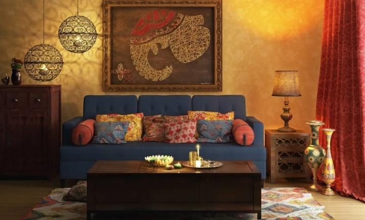 гостиная в индийском стиле