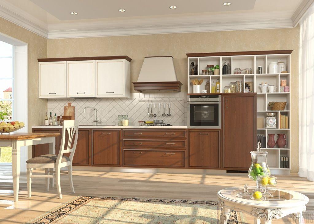дизайн большой кухни в частном доме