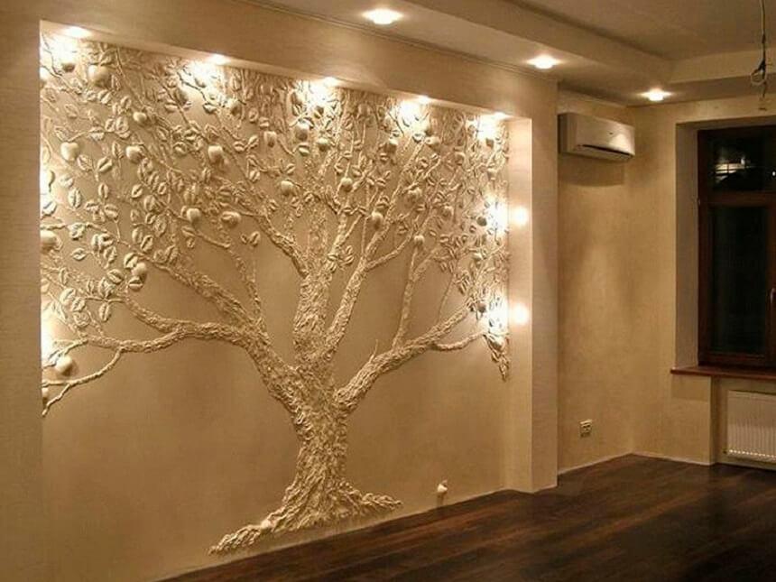 Фактурная штукатурка (99 фото): декоративная роллерная штукатурка, виды структурного покрытия для внутренней отделки стен