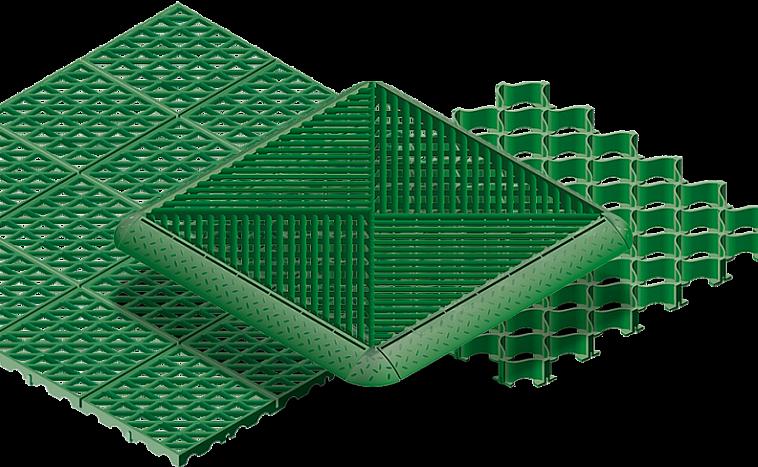 Газонная решетка из пластика, черная и зеленая. в москве