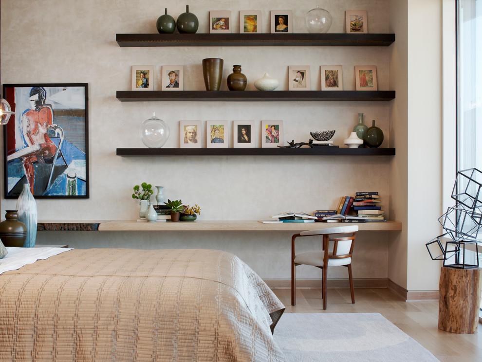 полки в гостиную в современном стиле