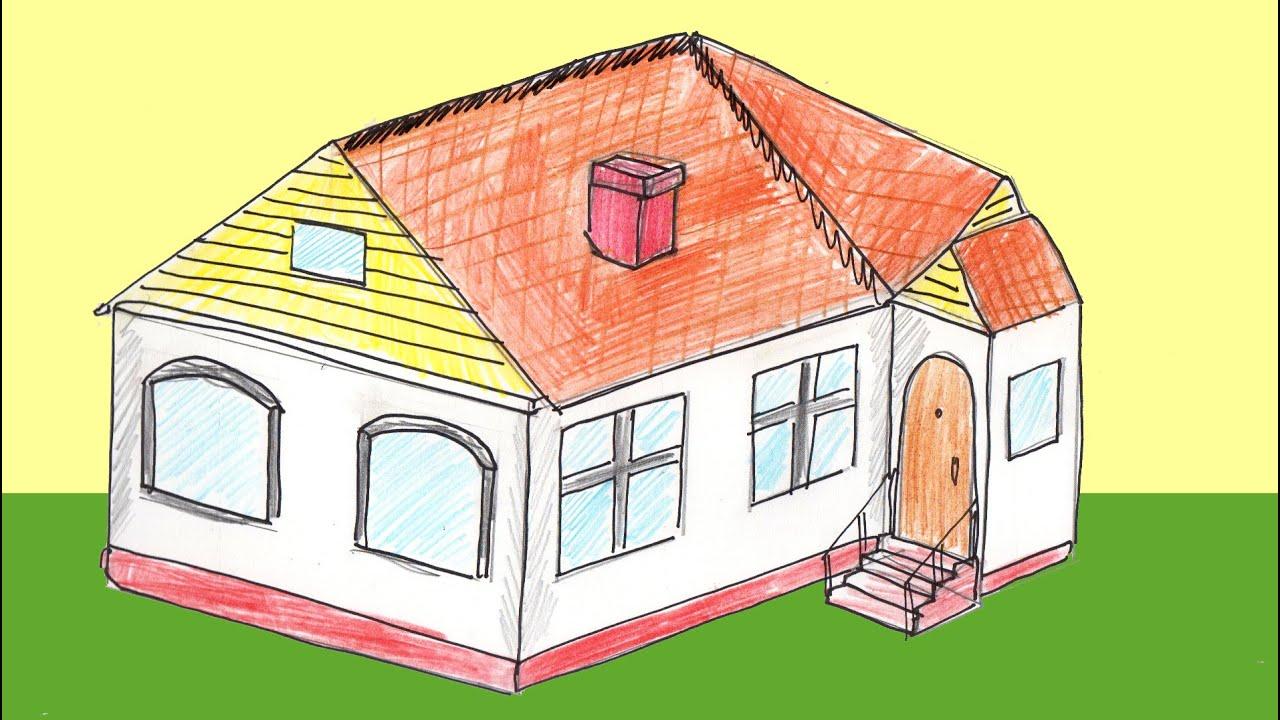 Как нарисовать дом: поэтапное описание рисунка дома своими руками (115 фото)
