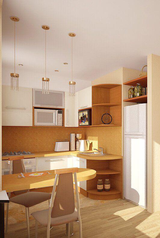кухня гостиная дизайн интерьер