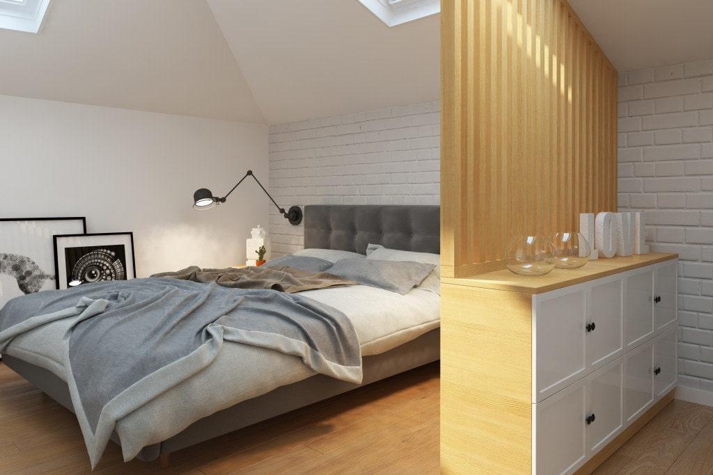 Освещение мансарды с наклонными стенами и выбором светильника для мансарды