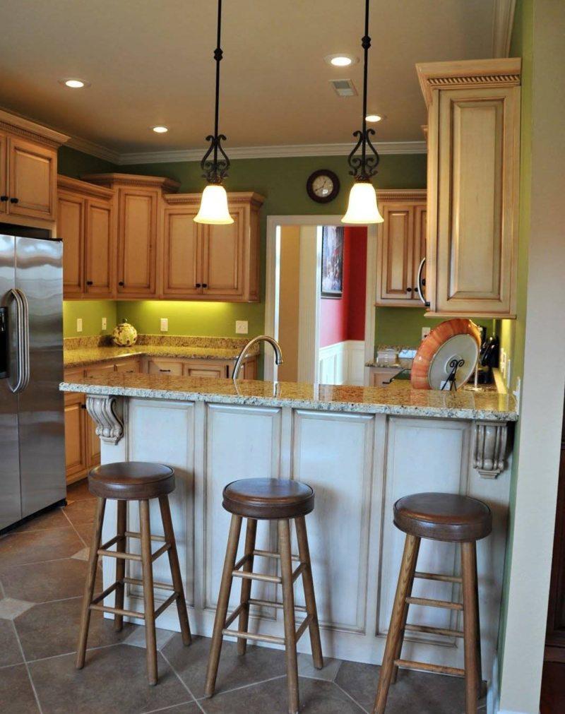 Барная стойка для кухни: варианты, чертежей, фото, дизайн