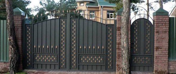 Ворота своими руками: 120 фото различных идей по установке и оформлению