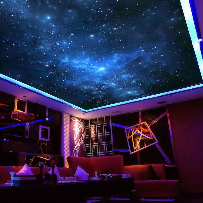 потолок звездное небо с мерцанием звезд