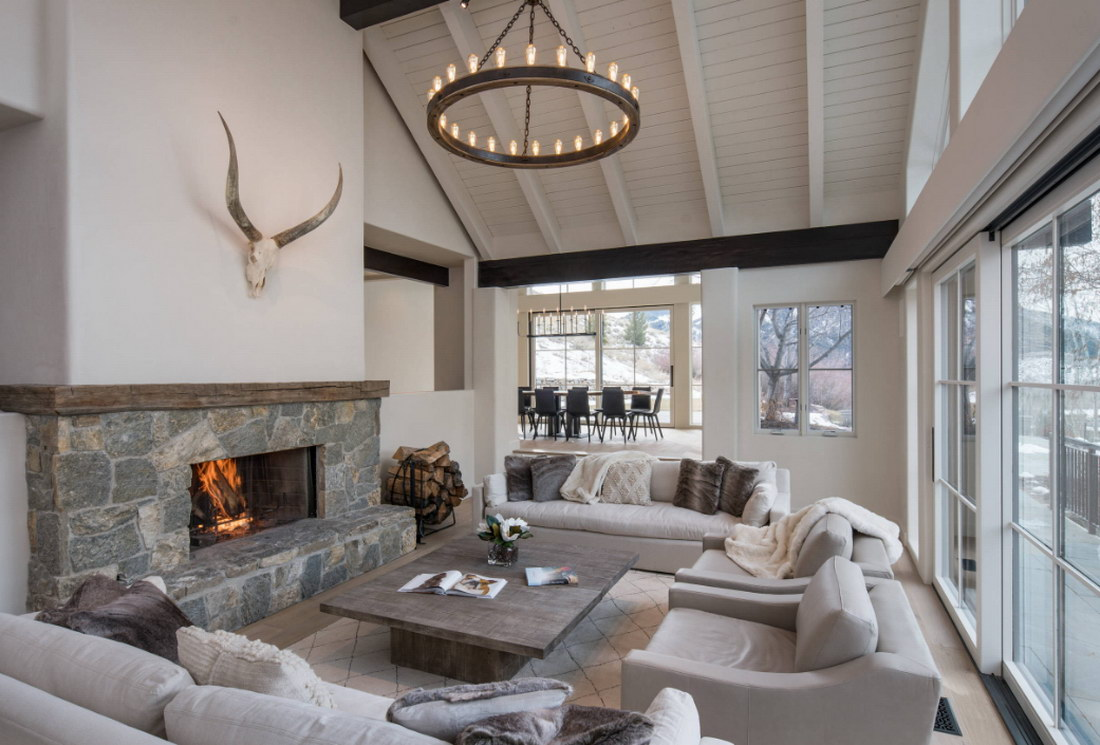 Дизайн гостиной в частном доме: 75 оригинальных идей интерьера