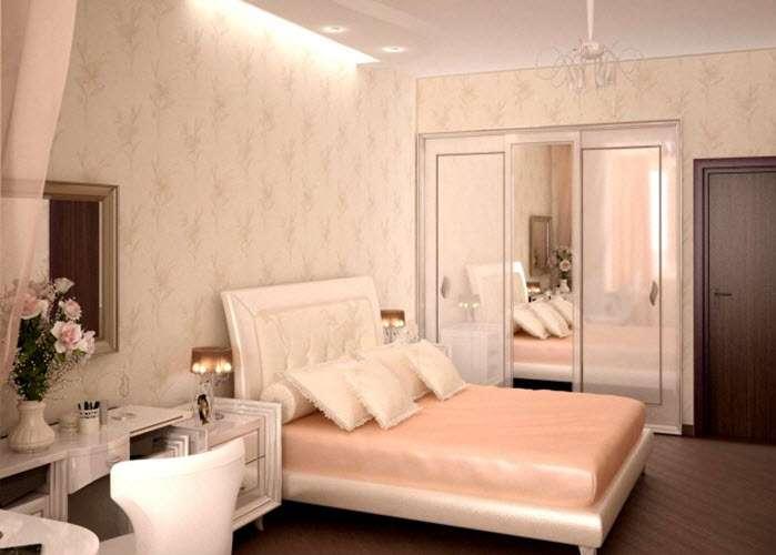 светлая спальня в современном стиле