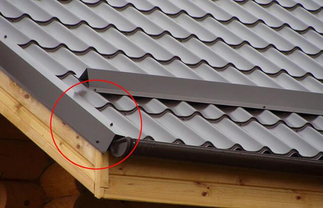 Ветровая планка для металлочерепицы и монтаж карнизной планки