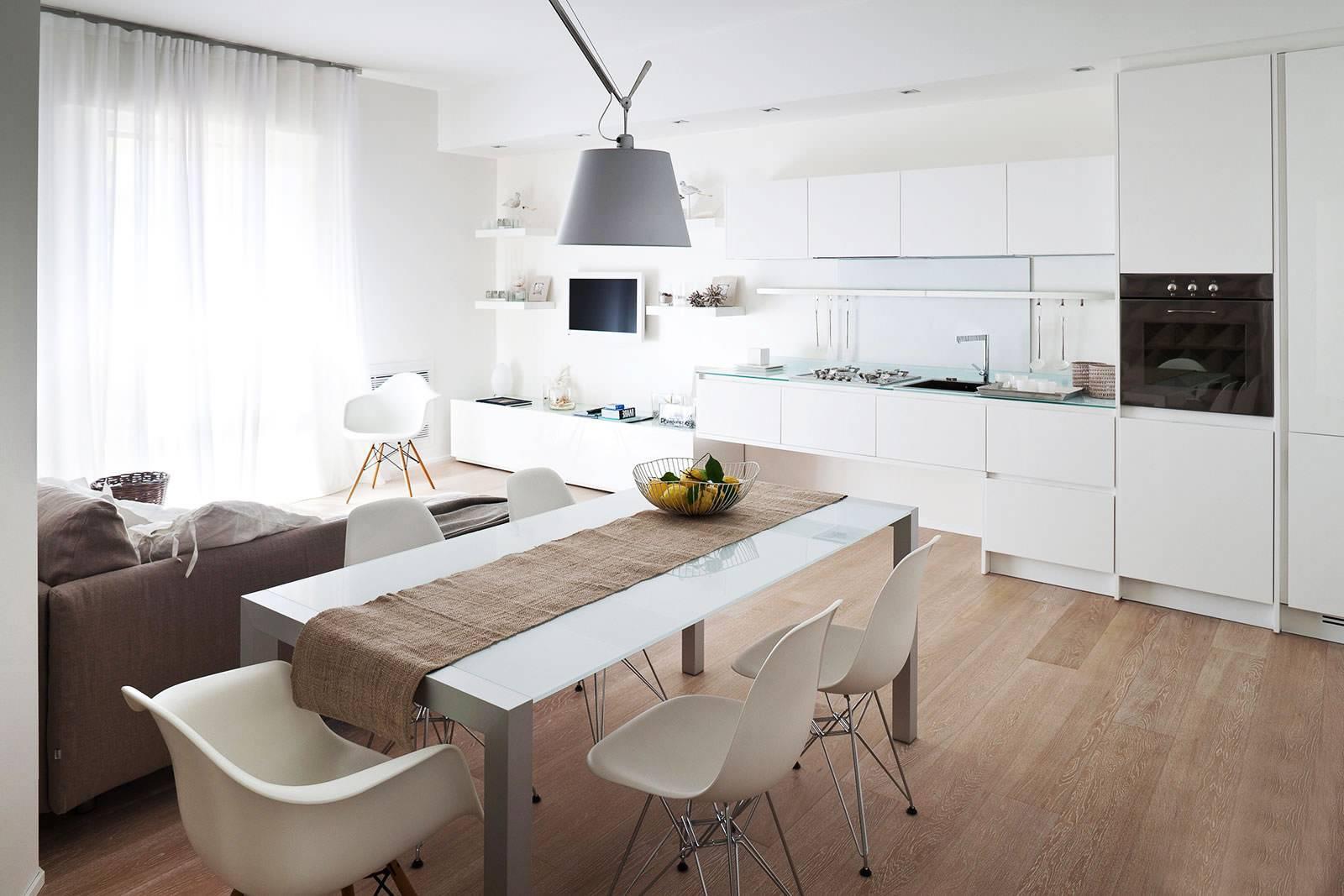 Особенности зонирования гостиной и кухни