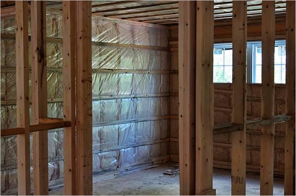 Перегородки в деревянном доме своими руками