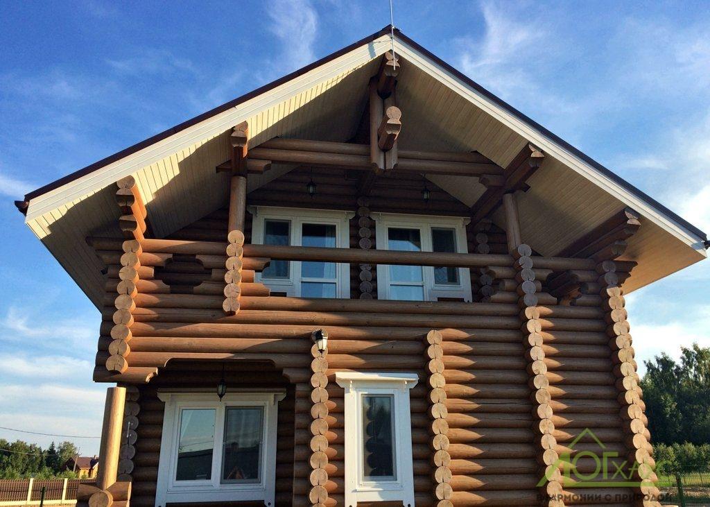 дома из оцилиндрованного бревна фото