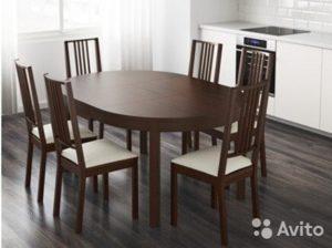 круглый стол икеа белый