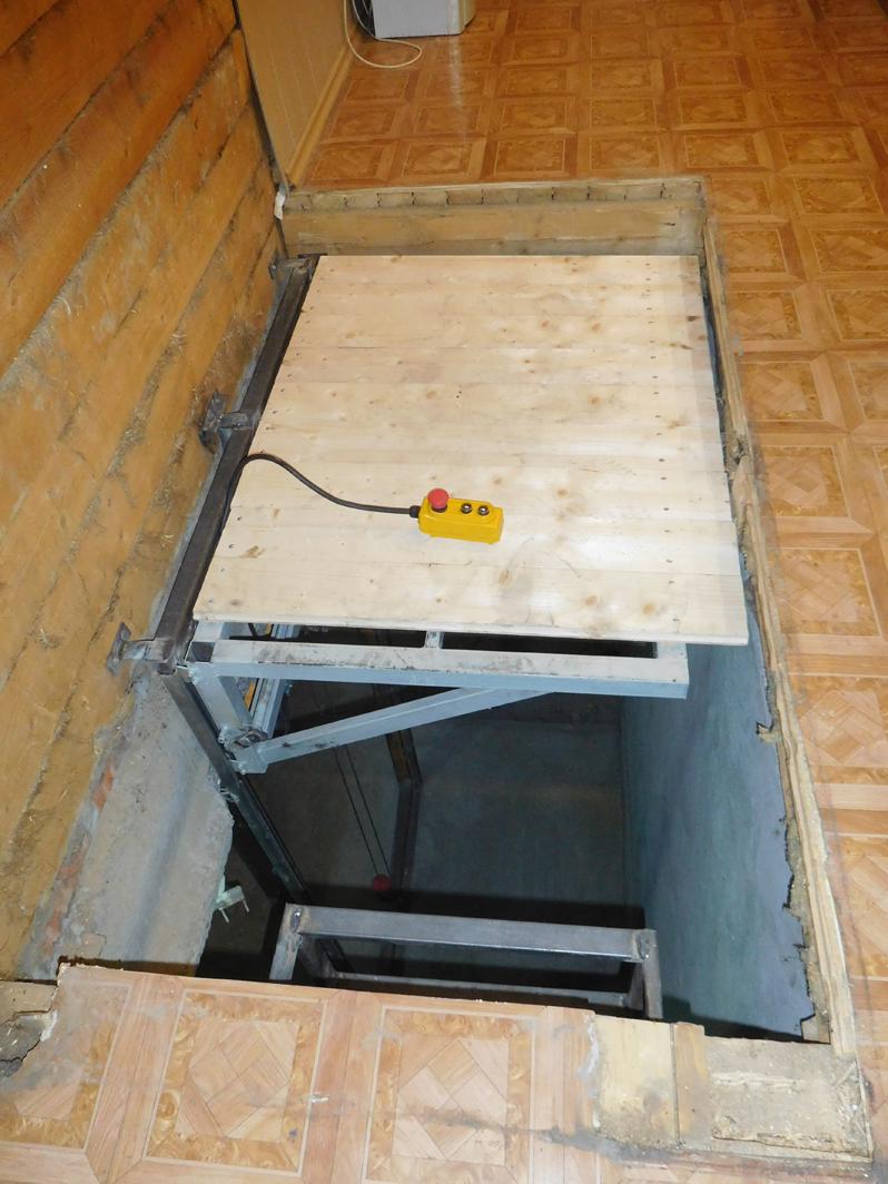Лифт в погреб своими руками: работы по установке