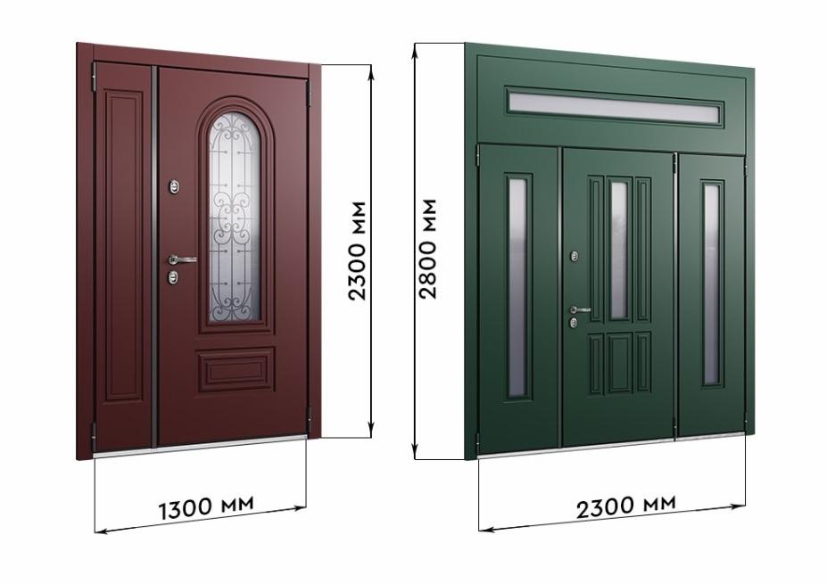 высота дверного проема входной двери