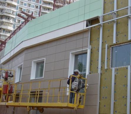 Монтаж вентилируемого фасада (вентфасада) ? цена за м2, расчет стоимости | стройфасад москва