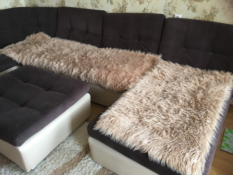 Как выбрать покрывало на угловой диван