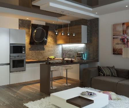 Хитрости зонирования кухни-гостиной 16 кв. м: дизайн и интерьер