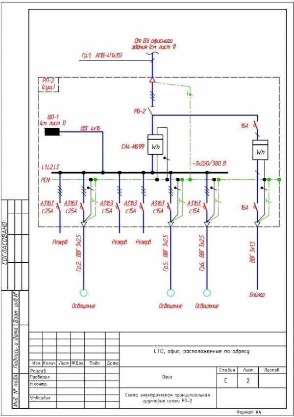 линейная схема электроснабжения
