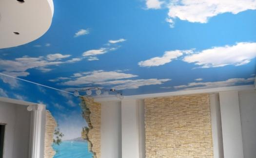красивые натяжные потолки фото