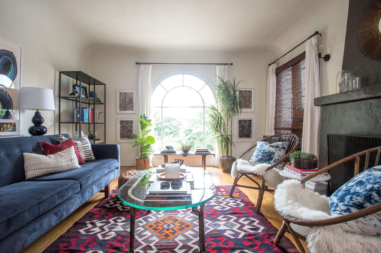 современные ковры на пол в гостиную фото