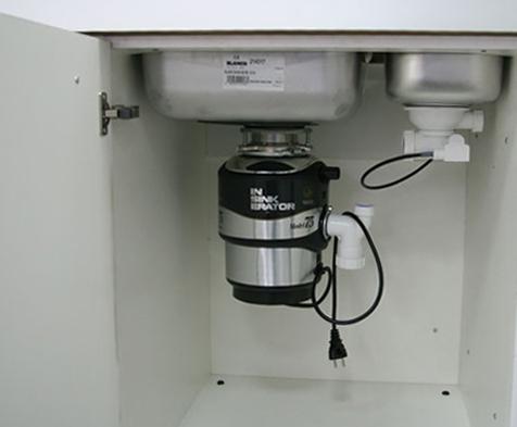 раковина с измельчителем отходов на кухню