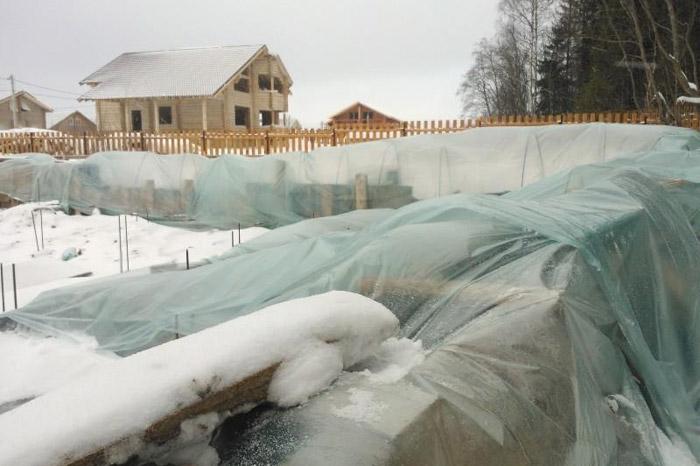 Консервация фундамента на зиму: как на зиму укрыть фундамент