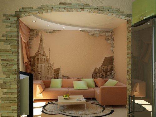 как красиво оформить стену в комнате