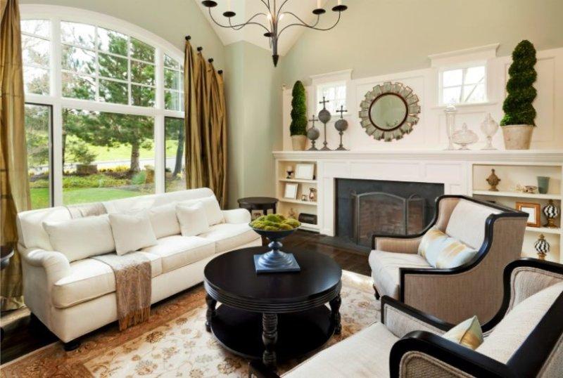 Дизайн маленького зала +75 фото примеров гармоничного интерьера