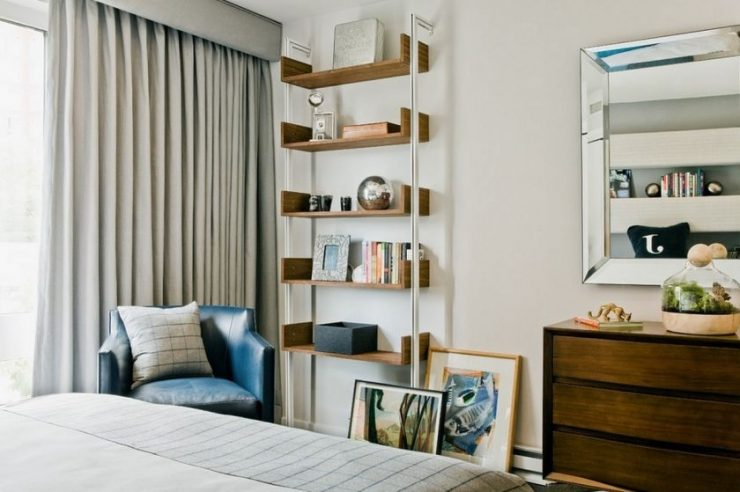 Полки в спальню: материалы, формы, крепления и дизайн. 85 фото оптимальных сочетаний с дизайном интереьра