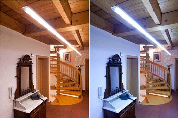Цветовая температура светодиодных ламп от теплого света до холодного