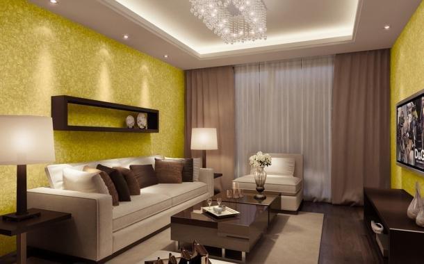 Дизайн обоев для зала (139 фото): варианты дизайна обоев в интерьере гостиной. как красиво их поклеить? серые и голубой обои с вензелями и другие варианты
