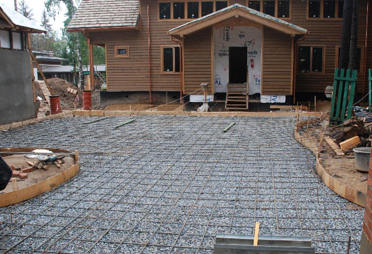 бетонирование двора своими руками