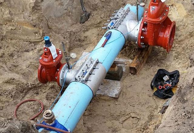 Выполнение врезки в газовую трубу
