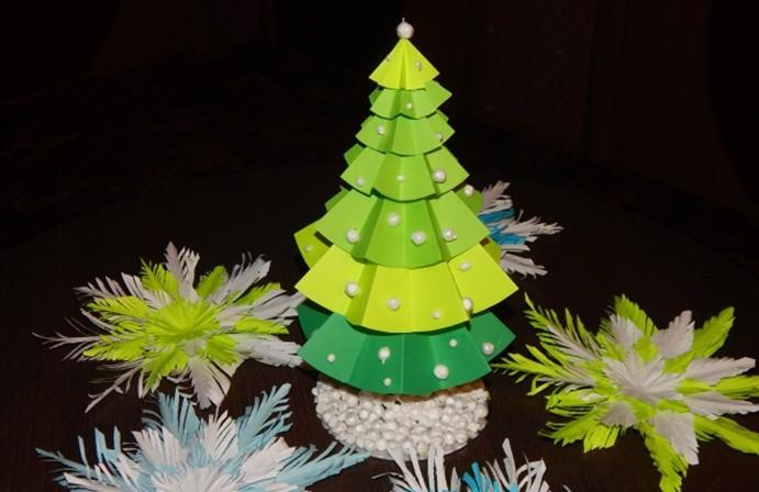 Как сделать елку своими руками из еловых шишек и шишек сосны, из конфет и гофрированной бумаги, из бумаги, пластиковых бутылок, ниток. мастер-класс по изготовлению елочки