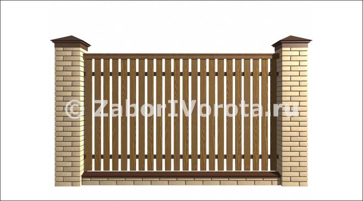 Кирпичный забор — как выбрать дизайн и оформить забор правильно (125 фото + видео)