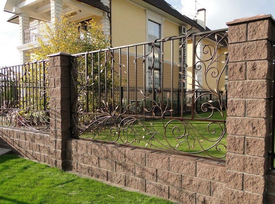 забор фото в загородный дом